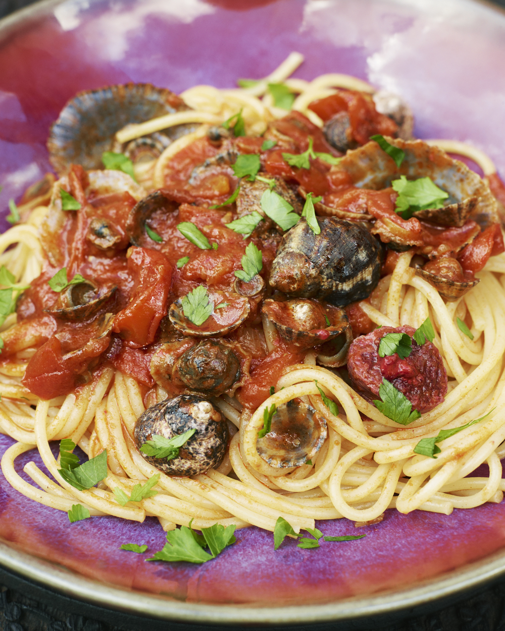 Spaghetti frutti di mare - Under the Almond Tree